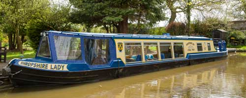 Where to go on the Shropshire Lady Canal Boat